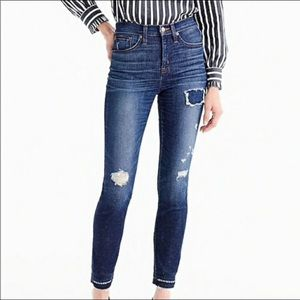 J. Crew Lookout high rise distressed skinny jeans